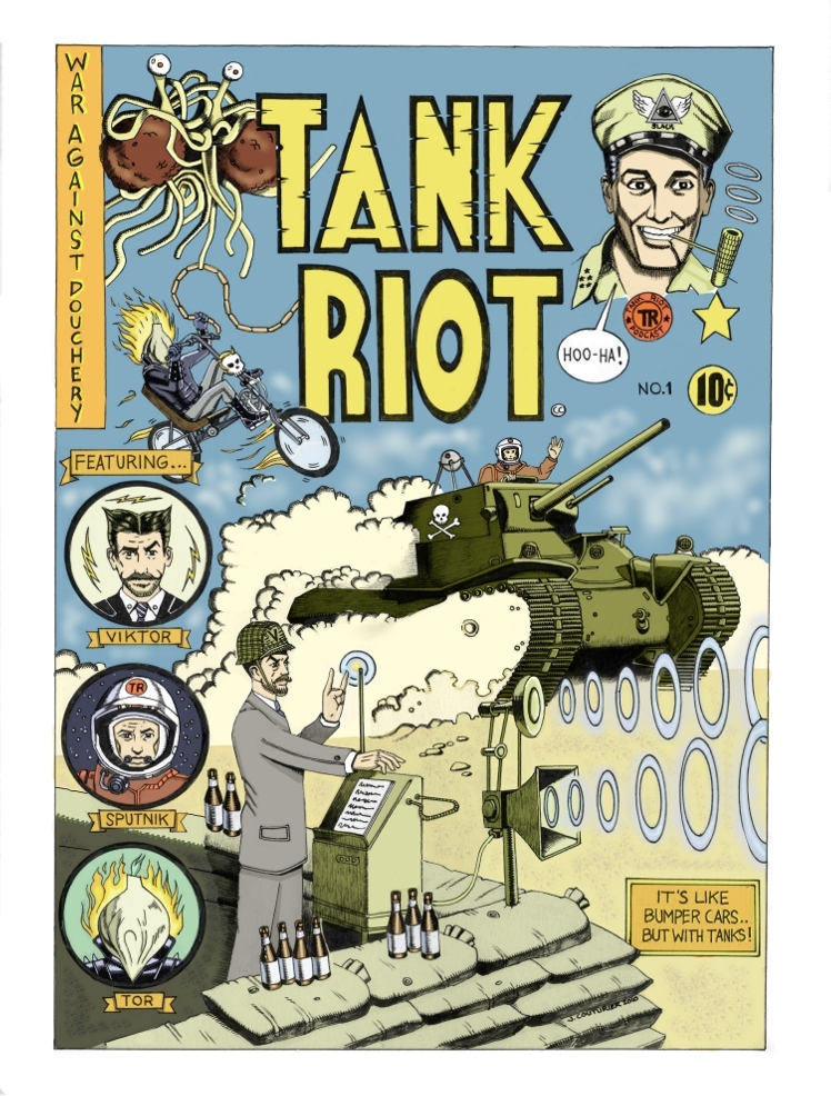Tank Riot Comic Book Cover by Jeremy Couturier